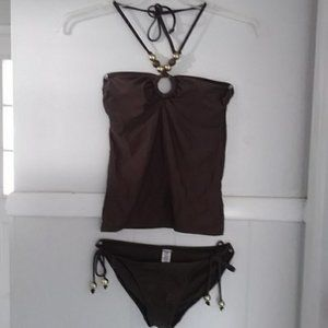 NWOT Old Navy brown two piece tankini